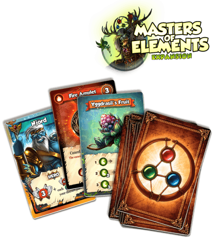 Vikings Gone Wild: Masters of Elements - Cartes Premium Kickstarter